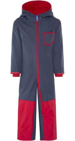 Finkid Pikku Winter jumpsuit rood/blauw
